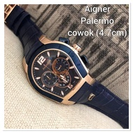 Aigner Watches Men type Aigner Palermo rosegold Leather Strap