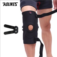 AOLIKES Metal Plate Knee Brace Polycentric Hinges Plate Sports Safety Knee Support Brace  Knee Pad Guard Protector Strap
