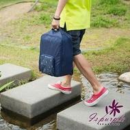 【iSPurple】摺疊尼龍*後背防水行李箱杆包/2色可選