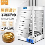 電熱蒸包子機保溫柜蒸柜玻璃蒸包柜點心柜糕點蒸箱透明展示柜