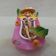 อะนิเมะ Bakemonogatari Oshino Shinobu Bath Crock Ver PVC Action FIGURE ตุ๊กตาของเล่นสะสม 10 ซม.