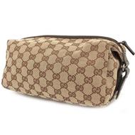 Gucci 經典款 GG logo 緹花布 化妝包 收納包 萬用包