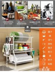 304不銹鋼碗架瀝水架晾放碗筷碗碟碗盤用品收納盒廚房置物架3層