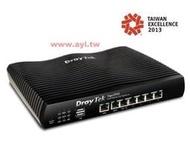 含稅運 台灣精品 居易 Vigor2925 高速商用防火牆路由器 全GIGA 3G/4G備援 負載平衡 SSL VPN