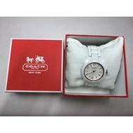 售 盒裝 二手 COACH 陶瓷 手錶 白色 陶瓷錶 外觀良好