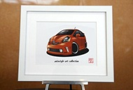 AutoStyle Art Collection TOYOTA PRIUS ALPHA マリーオレンジ