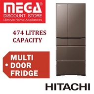 HITACHI R-WXC620KS 474L 6 DOORS REFRIGERATOR / FRIDGE / FREE AIR PURIFIER + $100 VOUCHER