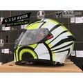 AGV安全帽 K-3 SV AVIOR 消光白/黃 內置墨鏡 全罩 K3SV 亞洲版『耀瑪台中安全帽機車部品』
