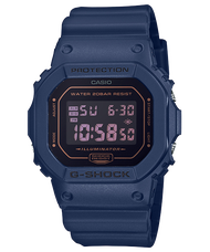 CASIO 卡西歐 DW-5600BBM-2 G-SHOCK金屬色澤運動錶 海軍藍 42.8 mm