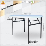 3V 4' Round Folding Banquet Table / Foldable Banquet Table / Function Table / Catering Table / Buffer Table / Hall Table / Office Table / Folding Table with Plastic Table Top