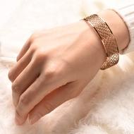 醫療級薄鋼手環- 萬壽無疆 窄版 女生款 銀玫瑰金黑 健康就業禮
