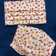 🔥布口罩套🔥(非布口罩)中間可放入醫療用口罩-淺黃色(花布)