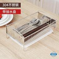 筷子籠304不銹鋼筷子筒瀝水籠架餐具收納盒雙筒韓式創意帶接水盤 樂天雙12購物節