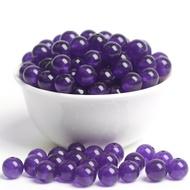 ╮銀慧diy水晶 •顆顆完美!4mm-12mm 超紫玉髓散珠圓珠子手工diy