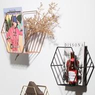 雜誌架北歐墻上懸掛書架鐵藝置物架簡約客廳墻壁雜志架壁掛報紙架報刊架