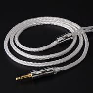 NICEHCK鍍銀耳機升級線16股編織MMCX2pin/QDCTFZ/NX7插針hifi線材 C16-1