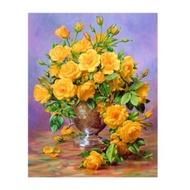 ภาพครอสติสคริสตัล รูปดอกกุลาบสีเหลือง