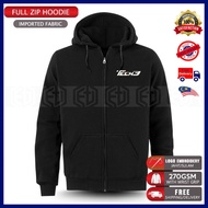 Zip Hoodie Tech3 Yamaha Embroidery KTM MotoGP Motorcycle Motosikal Superbike Racing Team Bike Casual 125Z LC RXZ TZM