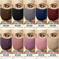 Wholesale Borong Topeng Muka Jovian Diamond Face Mask Kain Lycra Lembut Bertali Ikat Belakang Mesra Muslimah