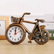 復古懷舊自行車模型個性鬧鐘創意單車時鐘錶居家臥室裝飾擺件鬧鐘