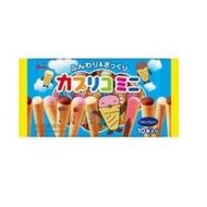 日本格力高 固力果三味甜筒巧克力餅 冰淇淋造型 10枚入-松本雜貨舖