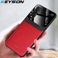 Keysion แฟชั่นกรณีกันกระแทกสำหรับ OPPO Find X2 หนังกระจกกระจกโทรศัพท์ C oque ปกหลังสำหรับ realme X2 X2 Pro