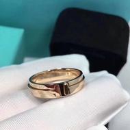 爆實拍 TIFFANY & Co.蒂芙尼 T系列T Two無鉆戒指 窄版迷霧同款情侶對戒 婚戒 簡約風 不退色不過敏