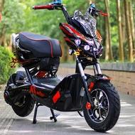 x戰警電瓶車電摩6072v踏板改裝高速極客電動摩托車戰狼電動車網紅
