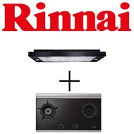 RINNAI RH-S319-PBR-T 90CM SLIMLINE HOOD + RB-2CG INNER FLAME CERAMIC GLASS HOB WITH SAFETY DEVICE