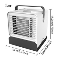Icor Portable Mini USB Powered Negative Ion Air Conditioners Cooler Fan with Night Light for Home Apartment Office Bedroom Living Room Kitchen