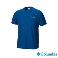 【Columbia 哥倫比亞】男款-野跑 涼感快排短袖上衣-深藍(UAE13070NY/ 涼感.排汗.T恤)
