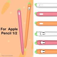 การ์ตูนทรงแครอทซิลิโคนปากกา Stylus ฝาครอบป้องกันสำหรับ Apple ดินสอ1/2เหมาะสำหรับ Applepencil 1St และ2Nd รุ่น Liquid ซิลิโคนปากกา,คุณภาพสูงซิลิโคนฝาครอบป้องกัน,ปากกาสัมผัส,Anti Dropping และ Anti Sli