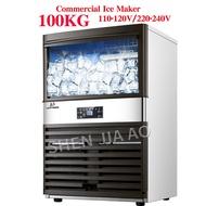 100KG Commercialเครื่องทำน้ำแข็งน้ำแข็งเครื่องMilk Tea Room/ขนาดเล็กบาร์/ร้านกาแฟอัตโนมัติน้ำแข็งcube Machine110v/220V