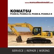 Service Manual Komatsu Excavator Pc200-8 Pc200Lc-8 Pc220-8 Pc220Lc-