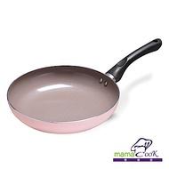 Mama Cook 綻粉陶瓷不沾鍋具組-平底鍋(24 cm)-無蓋