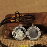 純銀佛像 925銀 準提鏡掛件吊墜 準提佛母鏡 護身符 保平安特價