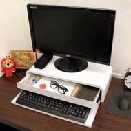 【美佳居】(鐵板製)桌上型-鍵盤+抽屜-螢幕架-2入/組(二色可選)
