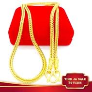 สร้อยคอทอง ขนาด 2บาท ลายสี่เสา ยาว 24นิ้ว สินค้าขายดี ชุบเศษทองเยาวราช ชุบทอง100% งานฝีมือจากช่างเยาวราช แถมฟรีตลับใส่ทอง