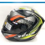 ZEUS 瑞師 813 AN20 消光黑螢光黃 ZS-813 全罩帽 雙鏡片 全可拆安全帽《裕翔》