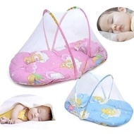 Pink/Blue 2016 New Baby Infant Bed Canopy Mosquito Net Cotton-padded Mattress Pillow Tent Foldable P