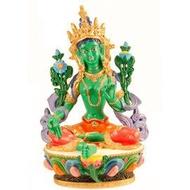 【妙音天女】綠度母佛像(波麗材質)