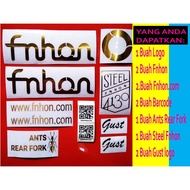 Fnhon Gust Bicycle Frame Sticker For 1 Frame - Gold