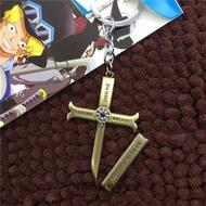 限量首發#ﺴ✻♝海賊王鷹眼手辦項鏈吊墜鷹眼刀小黑刀十字架鷹眼的刀王下新七武海