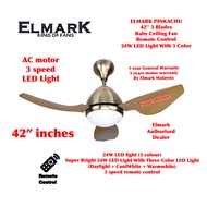 Elmark Avatar 42 inch ABS Blade AC motor Ceiling Fan with LED Light with Remote Control (3 blades) - AB