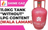 "SHINE GAZ LPG GAS TANK 11.0KG, (WALANG LAMAN) ""WITHOUT"" NET CONTENT at TRESMARIAS1582"