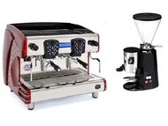 咖啡機出租LA SCALA 義大利雙孔半自動營業用咖啡機【Tosca-A2】+磨豆機 (每個月租購只要6000元)--【餐廳咖啡外帶適用的咖啡機】
