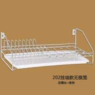 置物架 瀝碗碟架 碗架瀝水架304不銹鋼廚房置物架 碗筷單層晾放碗盤收納