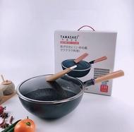 JP - 日本極鐵鐵鍋 無塗層不粘炒菜鍋(30CM)