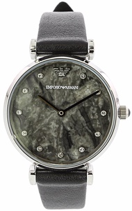 Emporio Armani Women's Ar11171 Round Marble Dial Watch with Crystals