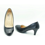รองเท้า 2713 รองเท้าผู้หญิง รองเท้าคัชชู ส้นสูง สีดำ นักศึกษา รองเท้าส้นสูง 2.4นิ้ว FAIRY รุ่น 2713